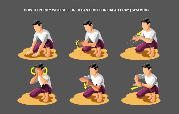Jak oczyścić glebą lub czyścić pył do modlitwy salah tayamum