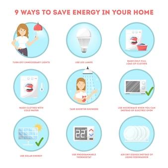 Jak oszczędzać koncepcję instrukcji dotyczących energii elektrycznej.