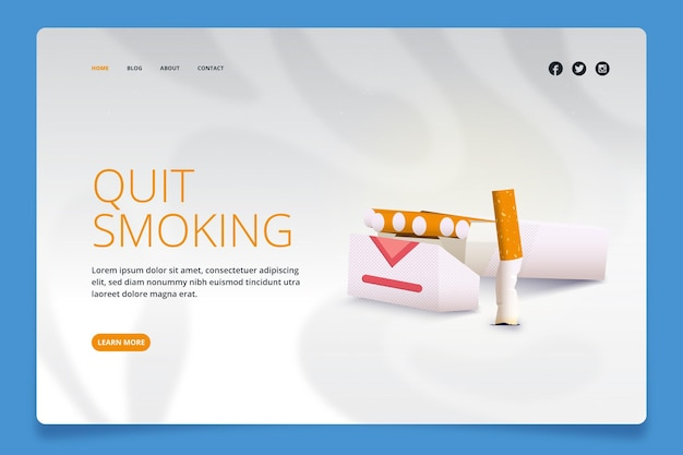Jak rzucić palenie landing page