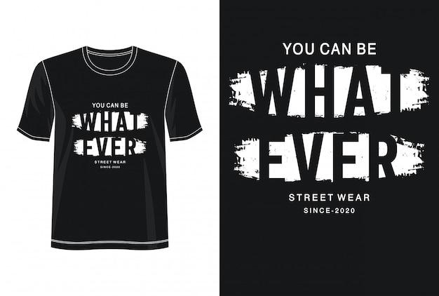 Jakakolwiek typografia do nadruku na koszulce