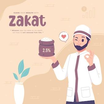 Jałmużna lub zakat w miesiącu ramadan