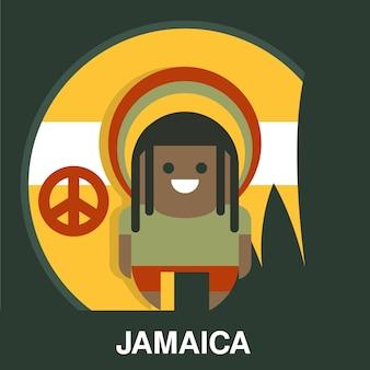 Jamajski człowiek w ilustracji jasne ubrania