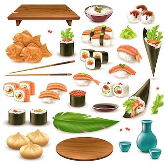 Japoński zestaw żywności