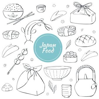 Japońskie tradycyjne jedzenie i napoje