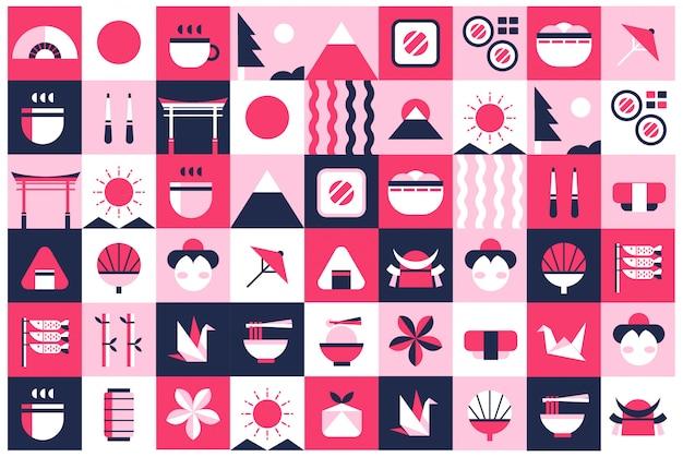 Japonia geometryczne tło