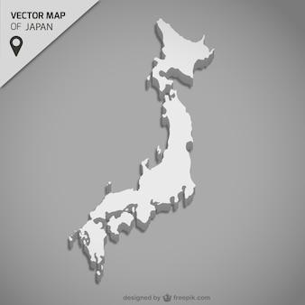 Japonia mapa wektorowa