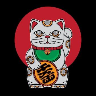 Japonia szczęśliwy kot maneki neko