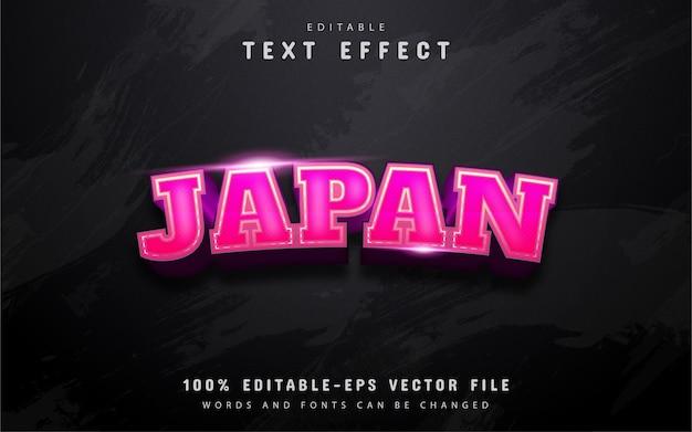 Japonia tekst, 3d różowy efekt tekstowy gradientu