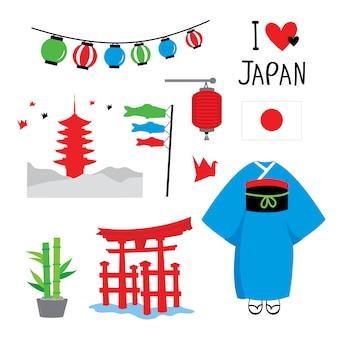 Japonia tradycja miejsce podróży azja wektor