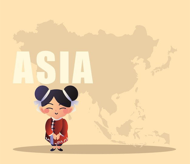 Japonka z mapą