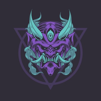 Japońska maska diabła