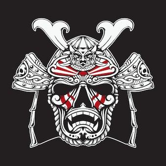 Japońska maska samurajska