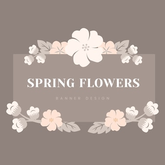 Japońska pastelowa kwiat rama