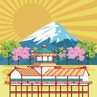Japońska świątynia w naturze