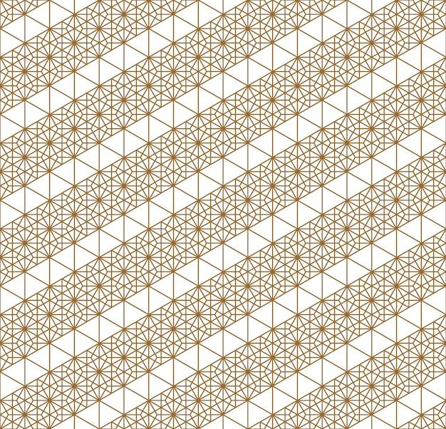 Japoński bezszwowy geometryczny wzór.