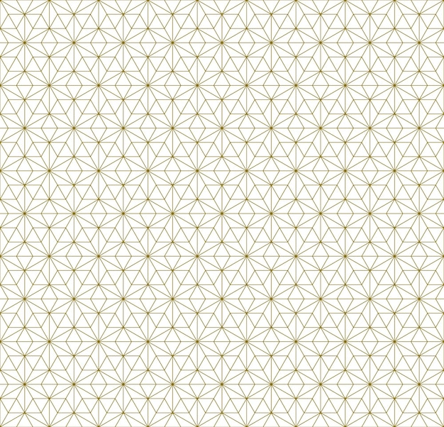 Japoński bezszwowy wzór kumiko w brązowe cienkie linie.