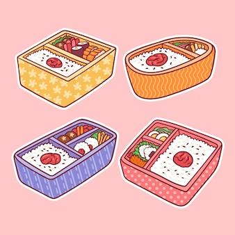 Japoński lunchbox kawaii umeboshi bento