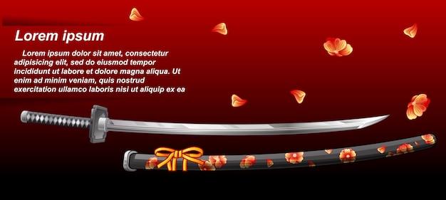 Japoński miecz.