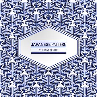 Japoński rodzimych wzorek bez szwu