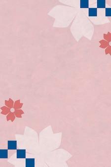 Japoński różowy kwiat wiśni w tle