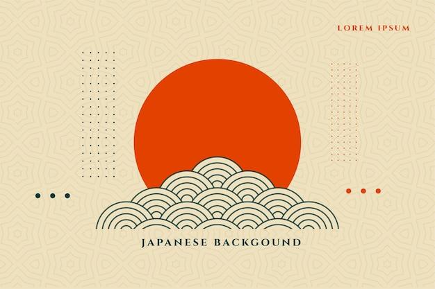 Japoński styl azjatycki projekt tła dekoracyjnego