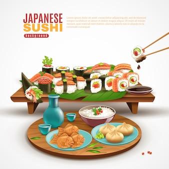 Japoński sushi tło