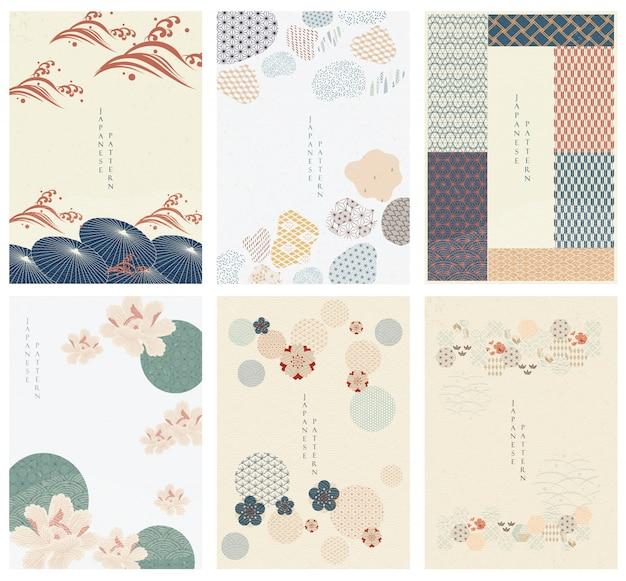 Japoński szablon. geometryczne tło. parasol i elementy abstrakcyjne. tapeta papierowa w stylu chińskim. naturalna luksusowa tekstura
