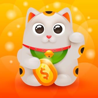 Japoński szczęśliwy kot maneki neko