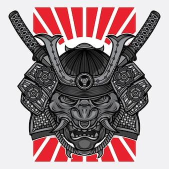 Japoński tatuaż z maską hannya