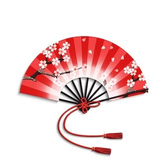 Japoński wentylator składany