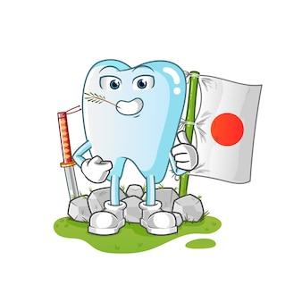 Japoński Ząb Ilustracja Premium Wektorów