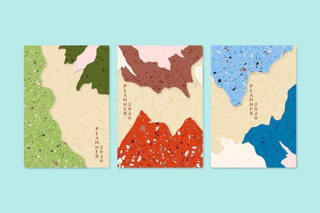 Japoński zestaw okładek minimalistyczny design