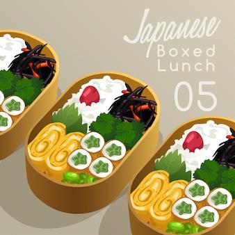 Japoński zestaw pudełek na lunch zestaw