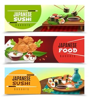 Japońskie banery żywnościowe