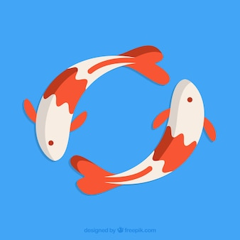 Japońskie koi ryb