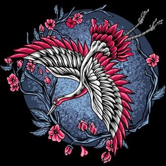 Japońskie żurawie latające