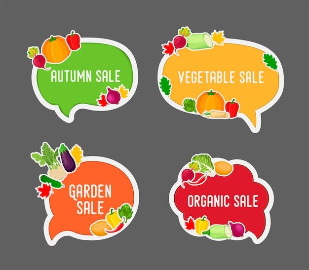 Jarzynowa jesieni sprzedaż w bąbel mowie