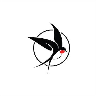 Jaskółka logo marka latający ptak