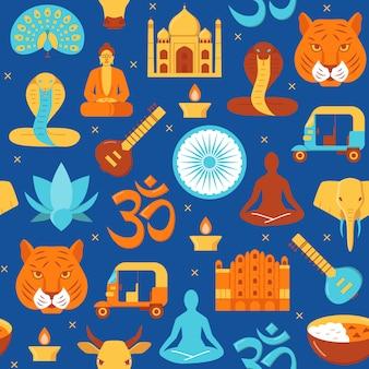 Jaskrawy india bezszwowy wzór
