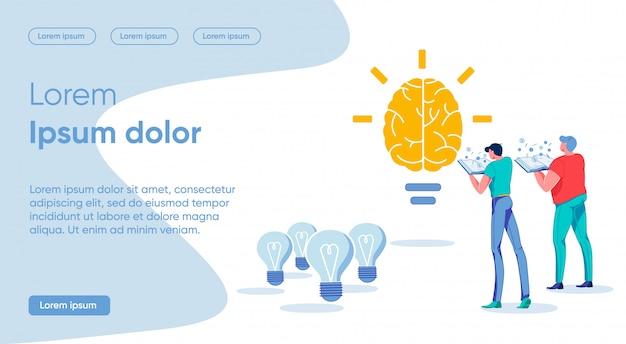 Jasna ilustracja koncepcja napisana jasny pomysł.
