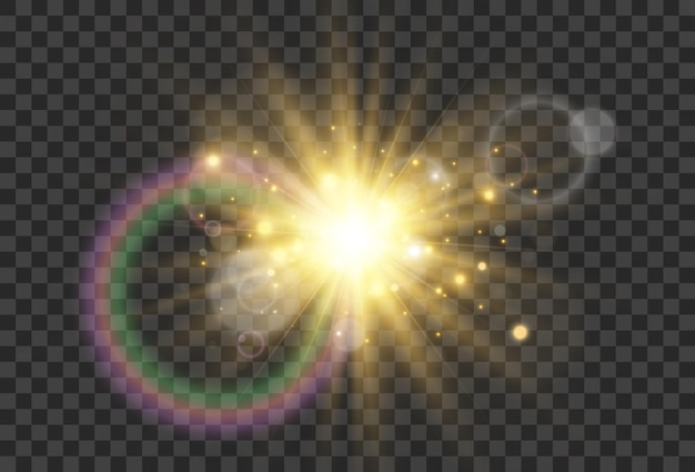Jasna piękna gwiazda efekt świetlny