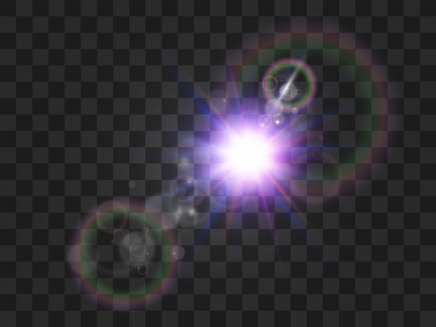 Jasna piękna gwiazda. ilustracja efektu świetlnego