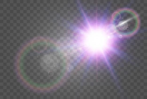 Jasna, piękna gwiazda. ilustracja wektorowa efektu świetlnego