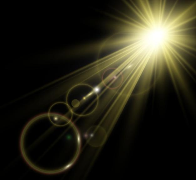 Jasna piękna gwiazda. światło z promieni.