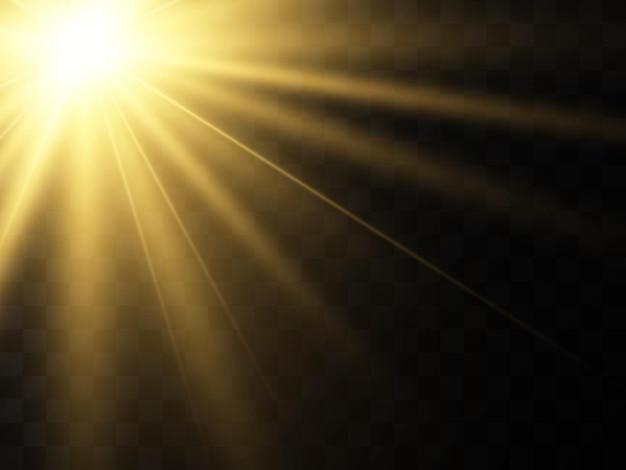 Jasna piękna ilustracja starvector efektu świetlnego na przezroczystym tle