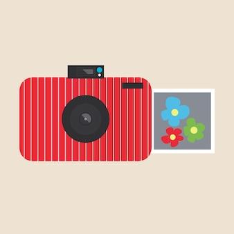 Jasna płaska kamera do robienia zdjęć