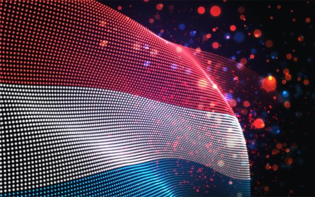 Jasna świecąca flaga luksemburga