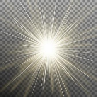Jasna świecąca gwiazda. pękająca eksplozja. przezroczyste tło tylko w