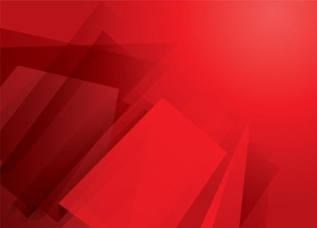 Jasne abstrakcyjne czerwone tło z prostokątami i nowoczesnymi kształtami