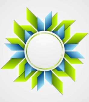 Jasne firmowe logo geometryczne z okręgiem. projekt wektorowy